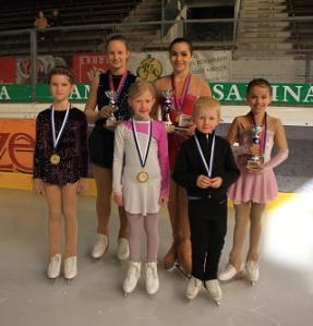 Die sechs Läuferinnen und Läufer an den Landesmeisterschaften 2014